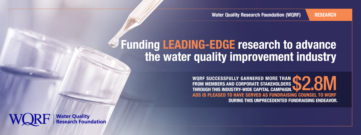 Water Quality Research Foundation Capital Campaign association fundraising